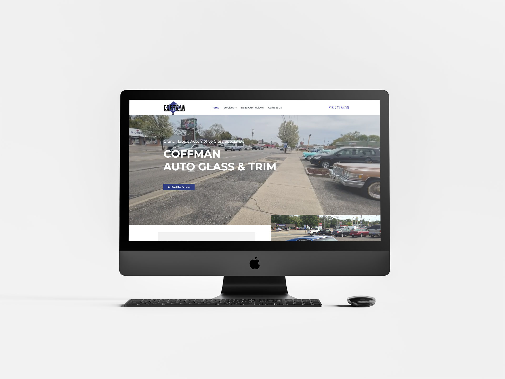 coffman auto glass website design